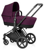 Коляска CYBEX PRIAM LUX MYSTIC PINK 2 В 1 на раме TREKKING MATT BLACK