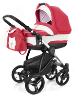 Коляска ESSPERO NEWBORN LUX RED LUX 2 В 1 на шасси CHROME