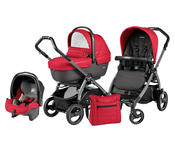 Коляска PEG-PEREGO BOOK PLUS 51 S JET XL+POP-UP SPORTIVO BLOOM RED 3 В 1