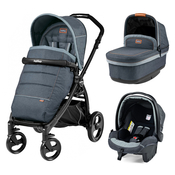 Коляска PEG-PEREGO BOOK PLUS MATT BLACK POP-UP BLUE DENIM 3 В 1