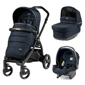 Коляска PEG-PEREGO BOOK PLUS MATT BLACK POP-UP LUXE BLUENIGHT 3 В 1