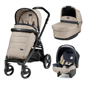 Коляска PEG-PEREGO BOOK PLUS MATT BLACK POP-UP LUXE BEIGE 3 В 1