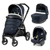 Коляска PEG-PEREGO BOOK PLUS MATT BLACK POP-UP LUXE BLUE 3 В 1