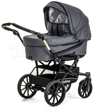Коляска EMMALJUNGA EDGE DUO COMBI 12609 LOUNGE GREY 2016  2 В 1 на шасси DE LUXE CHROME