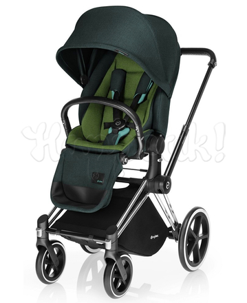 Коляска CYBEX PRIAM LUX HAWAII 3 В 1 на раме ALL TERRAIN MATT BLACK + ATON Q PLUS