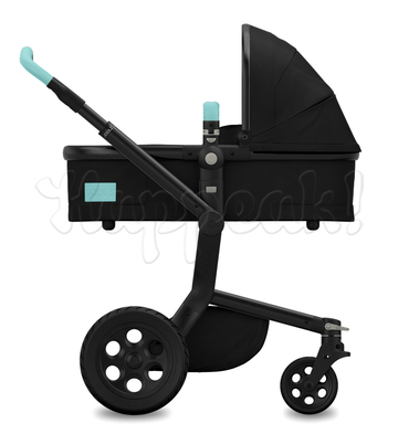 Коляска JOOLZ DAY TAILOR NOIR BLACK WHEELS ANGEL BLUE 2 В 1 (особая серия)