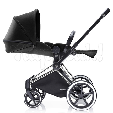 Коляска CYBEX PRIAM LUX BLACK BEAUTY 3 В 1 на раме ALL TERRAIN + CLOUD Q PLUS