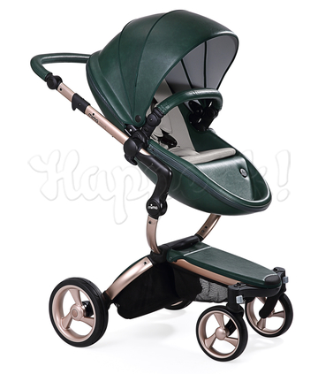 Коляска MIMA XARI FLAIR 2G BRITISH GREEN - BLACK 2 В 1 на шасси GOLD