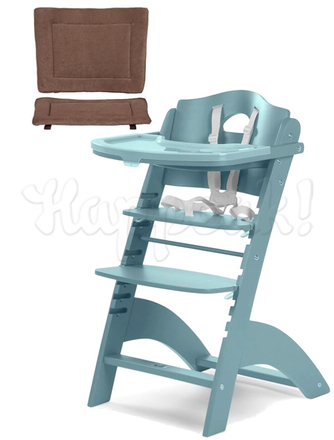 Стул для кормления CHILDHOME LAMBDA JADE GREEN - WARM GREY
