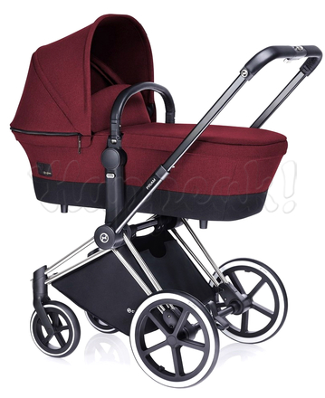 Коляска CYBEX PRIAM LUX HOT & SPICY 3 В 1 на раме ALL TERRAIN + ATON Q PLUS