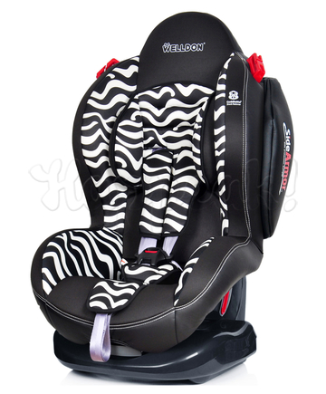 Автокресло WELLDON SMART SPORT SIDE ARMOR&CUDDLE ME ZEBRA