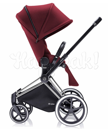 Коляска CYBEX PRIAM LUX HOT & SPICY 3 В 1 на раме ALL TERRAIN MATT BLACK + ATON Q PLUS