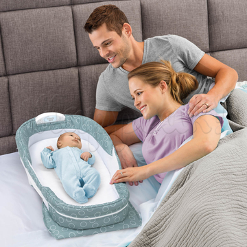 Мобильная кроватка BABY DELIGHT SNUGGLE NEST SURROUND XL SEA GREEN RINGS