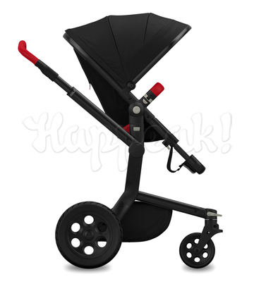 Коляска JOOLZ DAY TAILOR NOIR BLACK WHEELS POPPY RED 2 В 1 (особая серия)