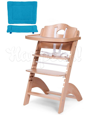 Стул для кормления CHILDHOME LAMBDA 2 NATURAL - TURQUOISE