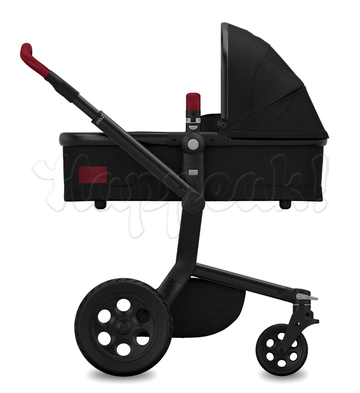 Коляска JOOLZ DAY TAILOR NOIR BLACK WHEELS TANGO RED 2 В 1 (особая серия)
