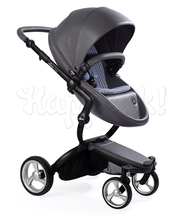 Коляска MIMA XARI FLAIR 2G COOL GREY - RETRO BLUE 2 В 1 на шасси BLACK