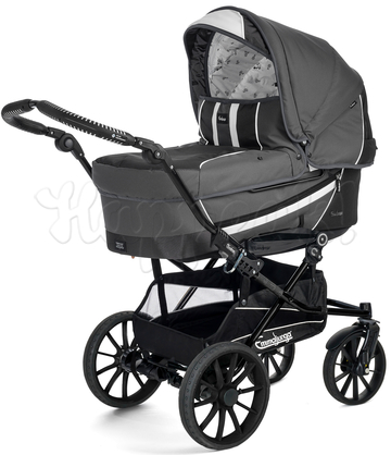 Коляска EMMALJUNGA EDGE DUO COMBI 12624 DARK GREY 2016 2 В 1 на шасси DUO S BLACK AIR