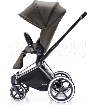 Коляска CYBEX PRIAM LUX DESERT KHAKI 3 В 1 на раме TREKKING MATT BLACK + ATON Q PLUS