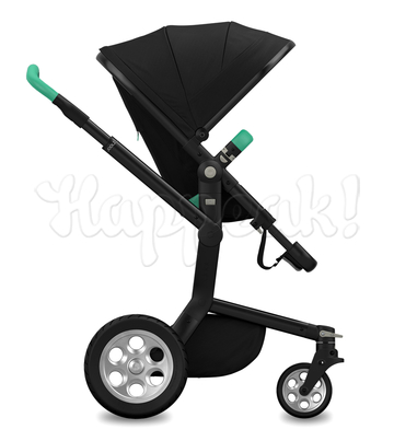 Коляска JOOLZ DAY TAILOR NOIR SILVER WHEELS EMERALD GREEN  2 В 1