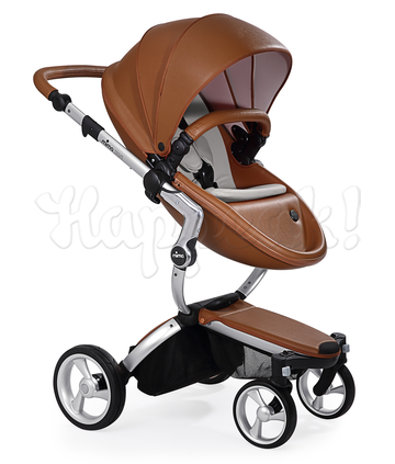 Коляска MIMA XARI FLAIR 2G CAMEL - RETRO BLUE 2 В 1 на шасси SILVER