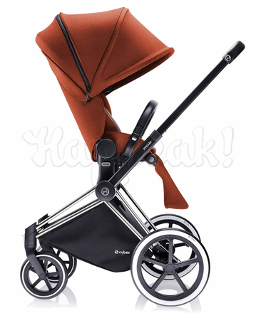 Коляска CYBEX PRIAM LUX AUTUMN GOLD 3 В 1 на раме TREKKING MATT BLACK + ATON Q PLUS