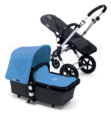 Коляска BUGABOO CAMELEON 3 DARK GREY ICE BLUE 2 В 1 на шасси SILVER