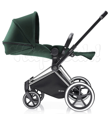 Коляска CYBEX PRIAM LUX HAWAII 3 В 1 на раме TREKKING MATT BLACK + CLOUD Q PLUS