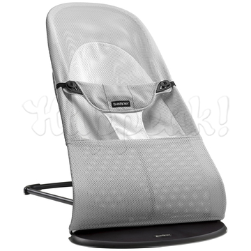 Кресло-шезлонг BABYBJORN BALANCE SOFT AIR SILVER WHITE