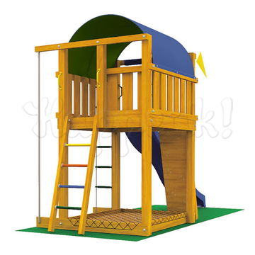Игровой комплекс JUNGLE GYM VILLA +SWING MODULE