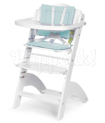 Стул для кормления CHILDHOME LAMBDA 2 WHITE - PASTEL MINT