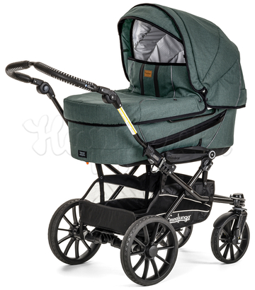 Коляска EMMALJUNGA EDGE DUO COMBI 12612 LOUNGE GREEN 2016 2 В 1 на шасси DUO S BLACK AIR
