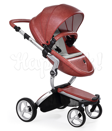Коляска MIMA XARI FLAIR 2G SICILIAN RED - SANDY BEIGE 2 В 1 на шасси SILVER
