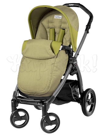Коляска PEG-PEREGO BOOK PLUS S COMPLETO MODULAR GREEN TEA  3 В 1 на шасси JET