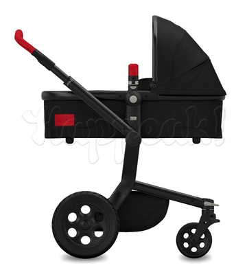 Коляска JOOLZ DAY TAILOR NOIR BLACK WHEELS POPPY RED  2 В 1