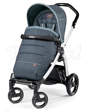 Коляска прогулочная PEG-PEREGO BOOK PLUS S WHITE POP-UP BLUE DENIM