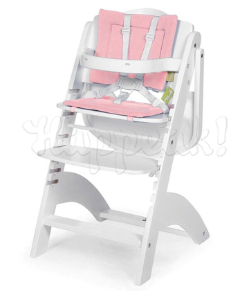 Стул для кормления CHILDHOME LAMBDA 2 WHITE - PASTEL OLD PINK