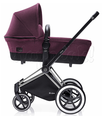Коляска CYBEX PRIAM LUX GRAPE JUICE 2 В 1 на раме ALL TERRAIN MATT BLACK