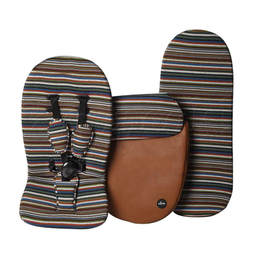 Коляска MIMA XARI FLAIR 2G CAMEL STRIPES 2 В 1 на шасси BLACK