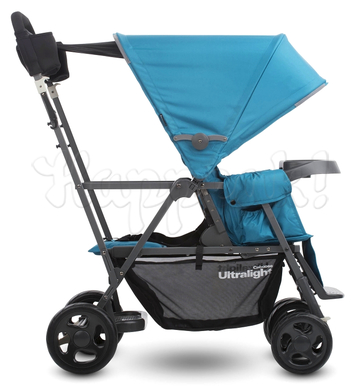 Коляска для погодок JOOVY CABOOSE ULTRALIGHT BLUE на раме GRAPHITE