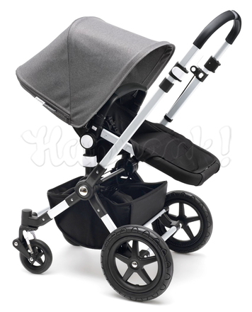 Коляска BUGABOO CAMELEON 3 DARK GREY OFF WHITE 2 В 1 на шасси SILVER