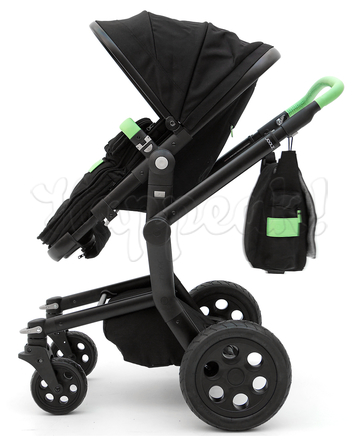 Коляска JOOLZ DAY TAILOR NOIR BLACK WHEELS MIXED GREEN  2 В 1