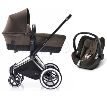 Коляска CYBEX PRIAM LUX DESERT KHAKI 3 В 1 на раме ALL TERRAIN + ATON Q PLUS