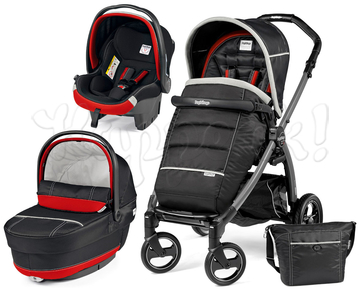 Коляска PEG-PEREGO BOOK PLUS S COMPLETO MODULAR SYNERGY  3 В 1 на шасси JET