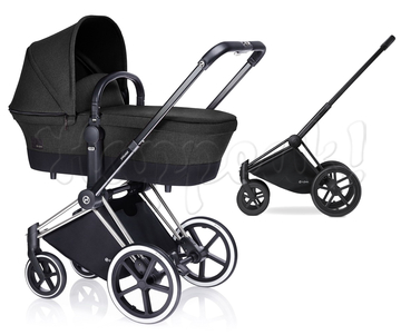 Коляска CYBEX PRIAM LUX BLACK BEAUTY 2 В 1 на раме TREKKING MATT BLACK