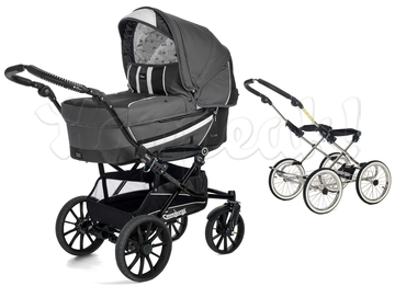 Коляска EMMALJUNGA EDGE DUO COMBI 12624 DARK GREY 2016  2 В 1 на шасси DE LUXE CHROME