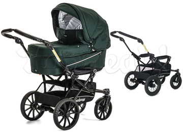 Коляска EMMALJUNGA EDGE DUO COMBI 12605 OXFORD GREEN 2016 2 В 1 на шасси DUO S BLACK AIR