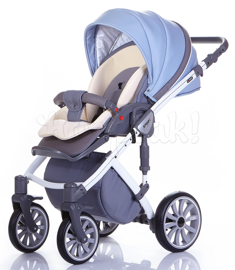 Коляска ANEX SPORT GRAY - LIGHT BLUE 3 В 1