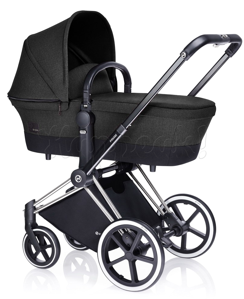 Коляска CYBEX PRIAM LUX BLACK BEAUTY 3 В 1 на раме ALL TERRAIN + ATON Q PLUS