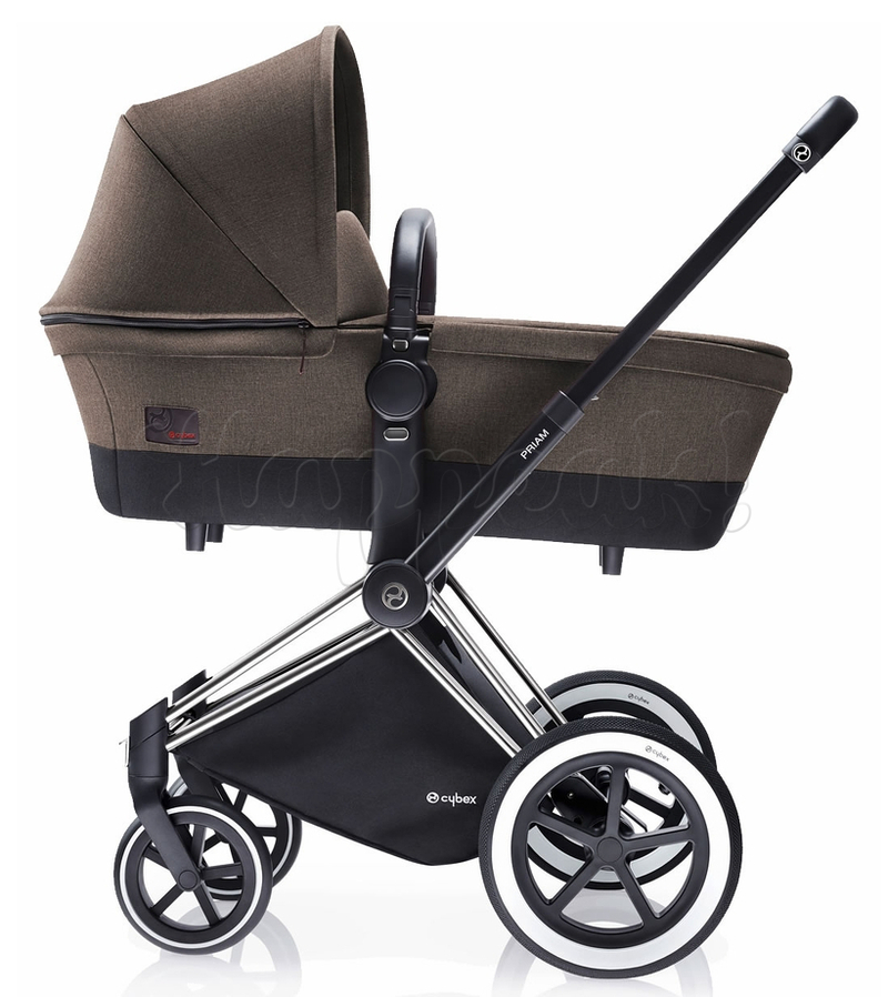 Коляска CYBEX PRIAM LUX DESERT KHAKI 3 В 1 на раме ALL TERRAIN MATT BLACK+CLOUD Q PLUS